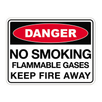 No Smoking Flammable Gases Keep Fire Away