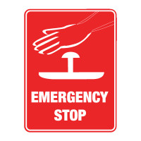 Emergency Stop (with symbol)