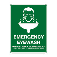 Emergency Shower & Eye Wash Safety Signs