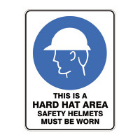 This Is A Hard Hat Area Safety Helmets Must Be Worn