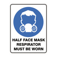 Half Face Respirator Must Be Worn