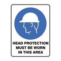 Head Protection Must Be Worn In This Area