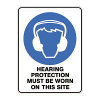 Hearing Protection Must Be Worn On This Site